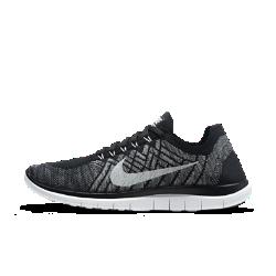 Мужские беговые кроссовки Nike Free 4.0 FlyknitМужские беговые кроссовки Nike Free 4.0 Flyknit получили улучшенную амортизацию по сравнению с моделью 3.0 и более низкий профиль, чем у модели 5.0. Они не препятствуют естественными движениям стопы при беге благодаря низкопрофильной подошве и легкому верху Flyknit, который обеспечивает превосходную поддержку.  Свобода движений  Шестигранные эластичные желобки обеспечивают шесть точек гибкости, способствуя естественным движениям стопы в любом направлении. Дополнительные вырезы в подошведля естественной свободы движений.  Естественность движений  Кроссовки Nike Free 4.0 Flyknit отличаются низкопрофильной подошвой с перепадом между пяткой и передней частью стопы всего 6 мм и закругленной пяткой для более естественныхдвижений при беге.  Поддержка  Прочный и легкий верх Flyknit повторяет контур стопы и обеспечивает оптимальную поддержку благодаря эластичным полиэстеровым нитям. Нити Flywire, объединенные со шнуровкой, обеспечивают дополнительную поддержку и индивидуальную посадку.  Другие преимущества  Асимметричная шнуровка позволяет снизить давление от шнурков Неэластичный трикотаж в области пятки отлично сохраняет форму и обеспечивает поддержку Литая стелька повторяет форму стопы для дополнительной поддержки Твердая резина в области пальцев обеспечивает сцепление и прочность Вафельная подметка с выступами гасит ударные нагрузки и обеспечивает амортизацию  Информация о товаре  Вес: 214 г (мужской размер 10) Перепад подошвы: 6 мм  ИСТОКИ NIKE FREE  Узнав, что спортсмены Стэнфордского университета тренируются босиком на поле для гольфа, три самых изобретательных и креативных сотрудника Nike взялись за разработку кроссовок, которые бы не ощущались на ноге и сидели, словно вторая кожа. В 2002 году они провели эксперимент: прикрепив к ступням нескольких женщин и мужчин специальные стельки для измерения давления стопы, они зафиксировали каждое движение стопы с помощью скоростных фотокамер. В течение восьми лет специалисты изуча