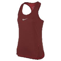 Женская беговая майка Nike AeroReactЖенская беговая майка Nike AeroReact из инновационной воздухопроницаемой ткани, которая реагирует на повышение температуры тела, помогая поддерживать оптимальную терморегуляцию во время пробежки.  Адаптивная воздухопроницаемость  Ткань Nike AeroReact состоит из волокон, которые раскрываются при повышении температуры тела для увеличения воздухопроницаемости и закрываются после пробежки, обеспечивая оптимальную терморегуляцию во время бега.  Свобода движений  Специальная конструкция швов повторяет контуры тела, обеспечивая свободу движений.<br>