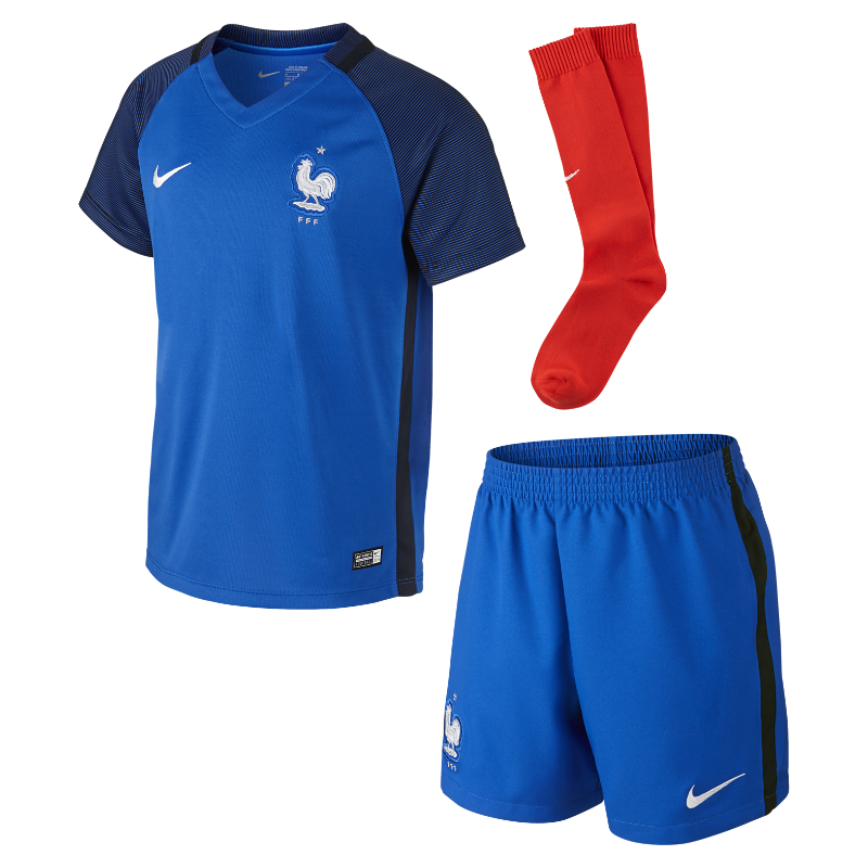 2016 FFF Stadium Home Younger Kids' Football Kit (3-8)