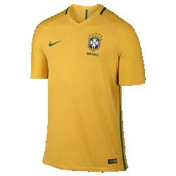 Мужская футбольная джерси 2016 Brasil CBF Match HomeМужская футбольная джерси 2016 Brasil CBF Match Home является точной копией джерси, в которой выступают игроки сборной. Технология Nike Aeroswift&amp;#8212;сочетание высококачественной водоотталкивающей ткани и специальной конструкции&amp;#8212;помогает развить максимальную скорость на поле.<br>