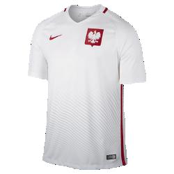 Мужская футбольная джерси 2016 Poland Stadium HomeМужская футбольная джерси 2016 Poland Stadium Home из воздухопроницаемой ткани обеспечивает комфорт без утяжеления во время игры и на каждый день.<br>