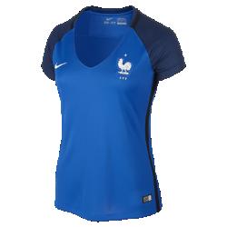 Женское футбольное джерси 2016 France Stadium HomeЖенское футбольное джерси 2016 France Stadium Home из легкой и дышащей ткани обеспечивает комфорт во время игры и каждый день.<br>