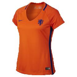 Женская футбольная джерси 2016 Netherlands Stadium HomeЖенская футбольная джерси 2016 Netherlands Stadium Home изготовлена из легкой влагоотводящей ткани для комфорта во время игры и на каждый день.<br>