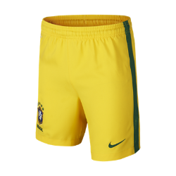 2016 Brazil CBF Stadium Home/Away Older Kids' Football Shorts (XS-XL)