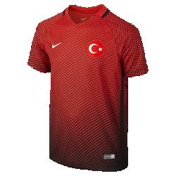 Футбольная джерси для школьников 2016 Turkey Stadium Home (XS–XL)Футбольная джерси для школьников 2016 Turkey Stadium Home из воздухопроницаемой ткани обеспечивает комфорт без утяжеления во время игры и на каждый день.<br>