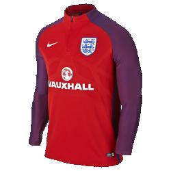 Мужская футбольная майка Nike England Strike DrillМужская футбольная майка Nike England Strike Drill создана по технологии Nike Aeroswift: сочетание высококачественной водоотталкивающей ткани и специальной конструкции помогают развить максимальную скорость на поле.<br>