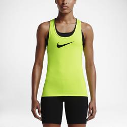 Женская майка для тренинга Nike ProЖенская майка для тренинга Nike Pro обеспечивает вентиляцию и свободу движений во время тренировки благодаря вставке из сетки сзади и V-образной спине.<br>