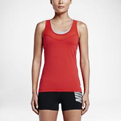 Женская майка для тренинга Nike Pro HypercoolЖенская майка для тренинга Nike Pro HyperCool из сетки Engineered Mesh и ткани Dri-FIT с Т-образной спиной обеспечивает комфортную температуру и свободу движений во время тренировки.  ПРЕВОСХОДНАЯ ВЕНТИЛЯЦИЯ  Продуманное расположение сетчатых вставок обеспечивает дополнительную вентиляцию там, где это необходимо.  СВОБОДА ДВИЖЕНИЙ  Т-образная спина не стесняет движений во время бега, прыжков и упражнений на растяжку.  КОМФОРТ  Технология Dri-FIT обеспечивает превосходную воздухопроницаемость и комфорт, выводя влагу на поверхность ткани и позволяя коже дышать.<br>