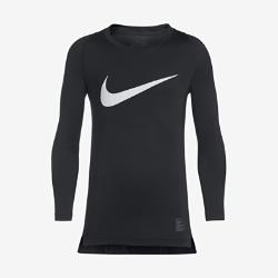 Футболка для мальчиков Nike Pro Combat HyperCool — Compression HBR Long-SleeveФутболка для мальчиков Nike Pro Combat HyperCool — Compression HBR Long-Sleeve из эластичной влагоотводящей ткани с эргономичными швами обеспечивает комфорт, плотную посадку и свободу движений.Сетчатые вставки обеспечивают дополнительную вентиляцию во время тренировок и на соревнованиях.<br>