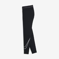 Тайтсы для тренинга для мальчиков школьного возраста Nike ProТайтсы для тренинга для мальчиков школьного возраста Nike Pro из влагоотводящей ткани с сетчатыми вставками обеспечивают комфорт и вентиляцию в качестве самостоятельного элемента на тренировках и базового слоя на соревнованиях.<br>