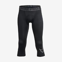 Тайтсы для тренинга длиной 3/4 для мальчиков школьного возраста Nike Pro CoreТайтсы для тренинга длиной 3/4 для мальчиков школьного возраста Nike Pro Core из влагоотводящей ткани со вставками из сетки обеспечивают комфорт и вентиляцию в качестве самостоятельного элемента на тренировках и базового слоя на соревнованиях.<br>