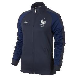 Женская куртка FFF Authentic N98Женская куртка FFF Authentic N98 изготовлена из прочной ткани. Воротник-стойка с молнией до подбородка обеспечивает комфорт и защиту от холода.<br>