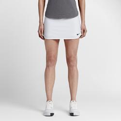Теннисная юбка NikeCourt Pure 30 смТеннисная юбка NikeCourt Pure 30 см обеспечивает свободу движений на корте благодаря эластичным вшитым шортам и сверхмягкой влагоотводящей ткани.<br>