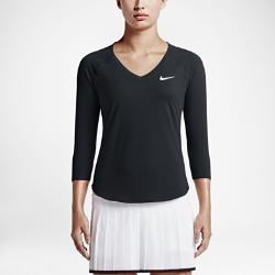 Женская теннисная футболка NikeCourt PureЖенская теннисная футболка NikeCourt Pure из невероятно мягкой влагоотводящей ткани обеспечивает полную свободу движений во время матчей и тренировок.<br>