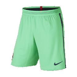 Мужские футбольные шорты Nike Portugal Vapor Match Home/AwayМужские футбольные шорты Nike Portugal Vapor Match Home/Away — копия модели, в которой выступает национальная сборная Португалии по футболу. Технология Nike Aeroswift сочетает водоотталкивающую ткань и специальную конструкцию, позволяя достичь максимальной скорости и невероятного комфорта.<br>