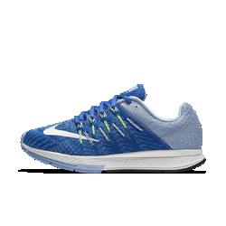 Женские беговые кроссовки Nike Air Zoom Elite 8Женские беговые кроссовки Nike Air Zoom Elite 8 позволят пробежать самые быстрые дистанции благодаря легкой комфортной амортизации, надежной поддержке и идеальному сцеплению с поверхностью.  Оптимальная амортизация  Вставка Nike Zoom Air в передней части стопы&amp;#8212;это сжатый воздух и внутренние волокна, которые обеспечивают комфортную амортизацию и позволяют двигаться быстро.  Воздухопроницаемость и поддержка  Легкий однослойный верх из материала Flymesh обеспечивает вентиляцию и поддержку в ключевых зонах. Нити Flywire обхватывают стопу в средней части и в области свода для плотной динамической посадки.  Легкость и сцепление  Сверхтонкая подметка обеспечивает легкость обуви и отличное сцепление с поверхностью. Шестигранный рисунок гарантирует прочность и превосходное сцепление на любой поверхности.<br>