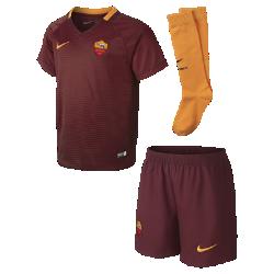 Футбольный комплект для дошкольников 2016/17 A.S. Roma Stadium Home (3–8 лет)Футбольный комплект для дошкольников 2016/17 A.S. Roma Stadium Home включает джерси, шорты и носки из воздухопроницаемой ткани с символикой команды для игры на своем поле.<br>