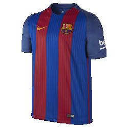 Мужская футбольная джерси 2016/17 F.C. Barcelona Stadium HomeМужская футбольная джерси 2016/17 F.C. Barcelona Stadium Home обеспечивает комфорт без утяжеления, когда ты болеешь за команду с трибун или просто идешь по улице.<br>