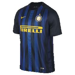 Мужское футбольное джерси 2016/17 Inter Milan Stadium HomeМужское футбольное джерси 2016/17 Inter Milan Stadium Home обеспечивает легкость и комфорт, когда ты болеешь за команду с трибун или просто идешь по улице.<br>