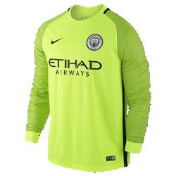 Мужское футбольное джерси 2016/17 Manchester City FC Stadium GoalkeeperМужское футбольное джерси 2016/17 Manchester City FC Stadium Goalkeeper из легкой воздухопроницаемой ткани обеспечивает комфорт во время игры и на каждый день.<br>