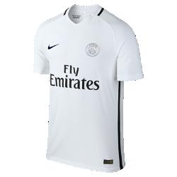 Мужское футбольное джерси 2016/17 Paris Saint-Germain Vapor Match ThirdМужское футбольное джерси 2016/17 Paris Saint-Germain Vapor Match Third — копия модели, в которой выступает футбольный клуб «ПСЖ». Технология Nike Aeroswift представляет собой сочетание влагоотводящей ткани и специальной конструкции, позволяя достичь максимальной скорости на поле.<br>