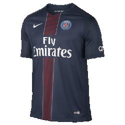 Мужское футбольное джерси 2016/17 Paris Saint-Germain Stadium HomeМужское футбольное джерси 2016/17 Paris Saint-Germain Stadium Home из дышащей ткани обеспечивает легкость и комфорт во время игры и на каждый день.<br>