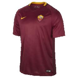 Мужское футбольное джерси 2016/17 A.S. Roma Stadium HomeМужское футбольное джерси 2016/17 A.S. Roma Stadium Home из легкой ткани обеспечивает комфорт на каждый день.<br>