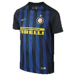 Футбольное джерси для школьников 2016/17 Inter Milan Stadium Home (XS–XL)Легкое и удобное футбольное джерси для школьников 2016/17 Inter Milan Stadium Home — отличный вариант как для похода на матч, так и для простой прогулки.<br>