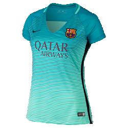 Женское футбольное джерси 2016/17 F.C. Barcelona Stadium ThirdЖенское футбольное джерси 2016/17 F.C. Barcelona Stadium Third обеспечивает комфорт без утяжеления, когда ты болеешь за команду с трибун или просто идешь по улице.<br>