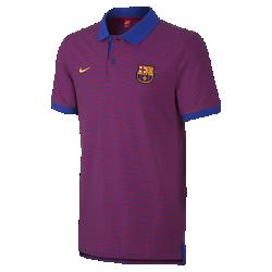 Мужская рубашка-поло FC Barcelona Authentic Grand Slam SlimМужская рубашка-поло FC Barcelona Authentic Grand Slam Slim из мягкого смесового хлопка с отложным воротником и тканой накладкой выполнена в винтажном стиле команды.<br>