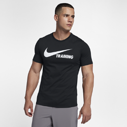 Мужская футболка Nike Training SwooshМужская футболка Nike Training Swoosh из прочной ткани Dri-FIT обеспечивает вентиляцию и комфорт.<br>
