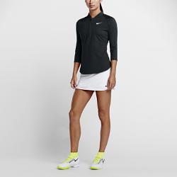 Женская теннисная футболка с половинной молнией и рукавом 3/4 NikeCourt DryЖенская теннисная футболка с половинной молнией и рукавом 3/4 NikeCourt Dry из невероятно мягкой влагоотводящей ткани обеспечивает полную свободу движений во время матчей и тренировок.<br>