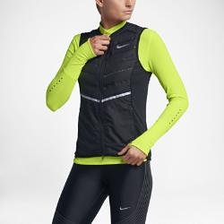 Женский беговой жилет Nike AeroloftЖенский беговой жилет Nike Aeroloft идеально подходит для защиты от холода во влажную погоду благодаря легкому слою из дышащей водоотталкивающей ткани, позволяющей поддерживать оптимальную температуру тела.  Вентиляция и защита от холода  Технология Nike Aeroloft сохраняет тепло без утяжеления и обеспечивает направленную вентиляцию для высоких результатов в холодную погоду без перегрева.  Зональная защита от холода  Продуманное расположение отделов с пуховым наполнителем обеспечивает защиту от холода без лишнего объема для абсолютной свободы движений.  Защита в любую погоду  Прочное водоотталкивающее покрытие (DWR) не пропускает влагу, защищая от непогоды.<br>