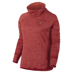 Женская беговая футболка с длинным рукавом Nike Therma Sphere ElementЖенская беговая футболка с длинным рукавом Nike Therma Sphere Element из влагоотводящей термоткани обеспечивает абсолютный комфорт и защиту от холода во время пробежек на улице.<br>