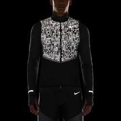 Мужской беговой жилет Nike Aeroloft FlashЛегкий, компактно складывающийся мужской беговой жилет Nike Aeroloft Flash защищает от холода и обеспечивает комфорт, делая тебя заметнее при слабом освещении в холодную влажную погоду.<br>