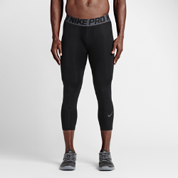 Мужские тайтсы для тренинга длиной 3/4 Nike Pro HyperCoolМужские тайтсы для тренинга длиной 3/4 Nike Pro HyperCool из эластичной влагоотводящей ткани с дышащей сеткой в зонах повышенного тепловыделения обеспечивают прохладу и комфорт во время высокоинтенсивных тренировок.<br>