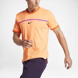 Мужская футболка NikeCourt AeroReact Rafael Nadal ChallengerЛегкая и дышащая мужская теннисная футболка NikeCourt AeroReact Rafael Nadal Challenger с технологией Nike AeroReact помогает поддерживать оптимальную температуру тела на протяжении всегоматча.<br>