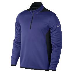 Мужская футболка Nike Hypervis Half-ZipМужская футболка Nike Hypervis Half-Zip обеспечивает комфорт в холодную погоду благодаря легкой и теплой дышащей ткани. Тепло  Ткань Nike Therma удерживает тепло, а флис Hypervis защищает от ветра.  Вентиляция и комфорт  Боковые вставки из трикотажной сетки обеспечивают воздухопроницаемость там, где это необходимо.  Комфорт  Ткань Dri-FIT обеспечивает превосходную воздухопроницаемость и комфорт, отводя влагу от кожи.<br>