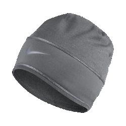 Вязаная шапка для бега Nike DryВязаная шапка для бега Nike Dry защищает от холода благодаря флисовой подкладке, а светоотражающие элементы делают тебя заметнее во время пробежки.<br>