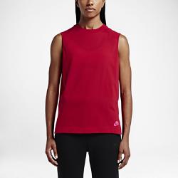 Женская майка Nike Sportswear BondedСтильная женская майка Nike Sportswear Bonded из чистого хлопка с высокой горловиной и складками на спине обеспечивает удобную посадку и создает современный образ.<br>