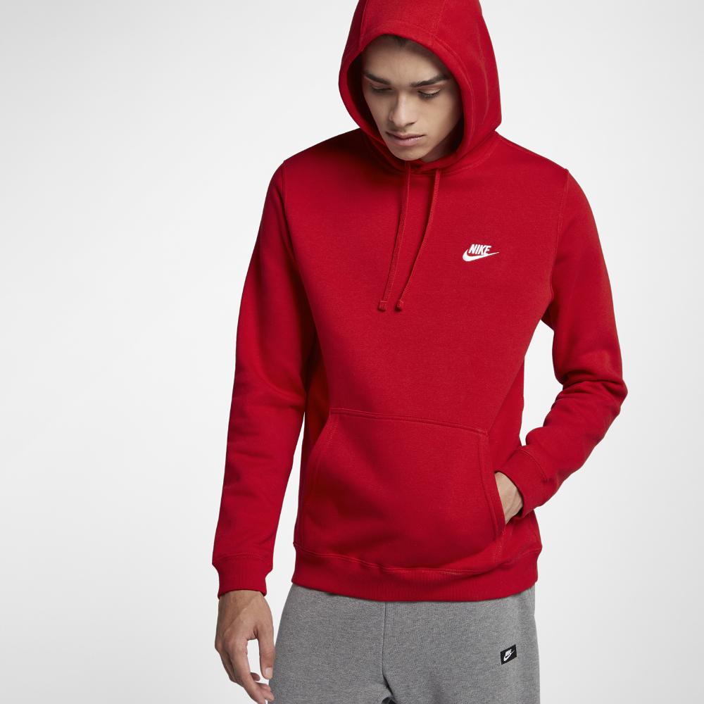 d3b8d9447c9c Nike Sportswear Club Fleece Men s Hoodie Size Medium (Red)