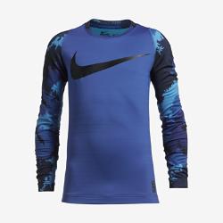 Футболка для тренинга с длинным рукавом для мальчиков школьного возраста Nike Pro HyperWarmФутболка для тренинга с длинным рукавом для мальчиков школьного возраста Nike Pro HyperWarm с технологией Dri-FIT обеспечивает воздухопроницаемость, комфорт и функциональную защиту во время тренировок в холодную погоду.<br>