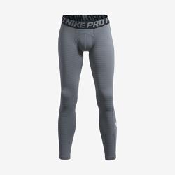 Тайтсы для мальчиков школьного возраста Nike Pro WarmБлагодаря плотной посадке и легкой влагоотводящей ткани тайтсы для мальчиков школьного возраста Nike Pro Warm сохраняют тепло и обеспечивают комфорт во время интенсивных тренировок в холодную погоду.<br>