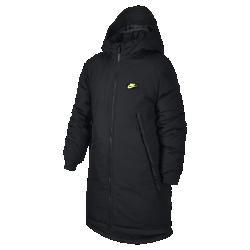 Парка с наполнителем для мальчиков школьного возраста Nike SportswearПарка с наполнителем для мальчиков школьного возраста Nike Sportswear из водоотталкивающей ткани с теплым пуховым наполнителем для активности даже в холодную погоду.<br>