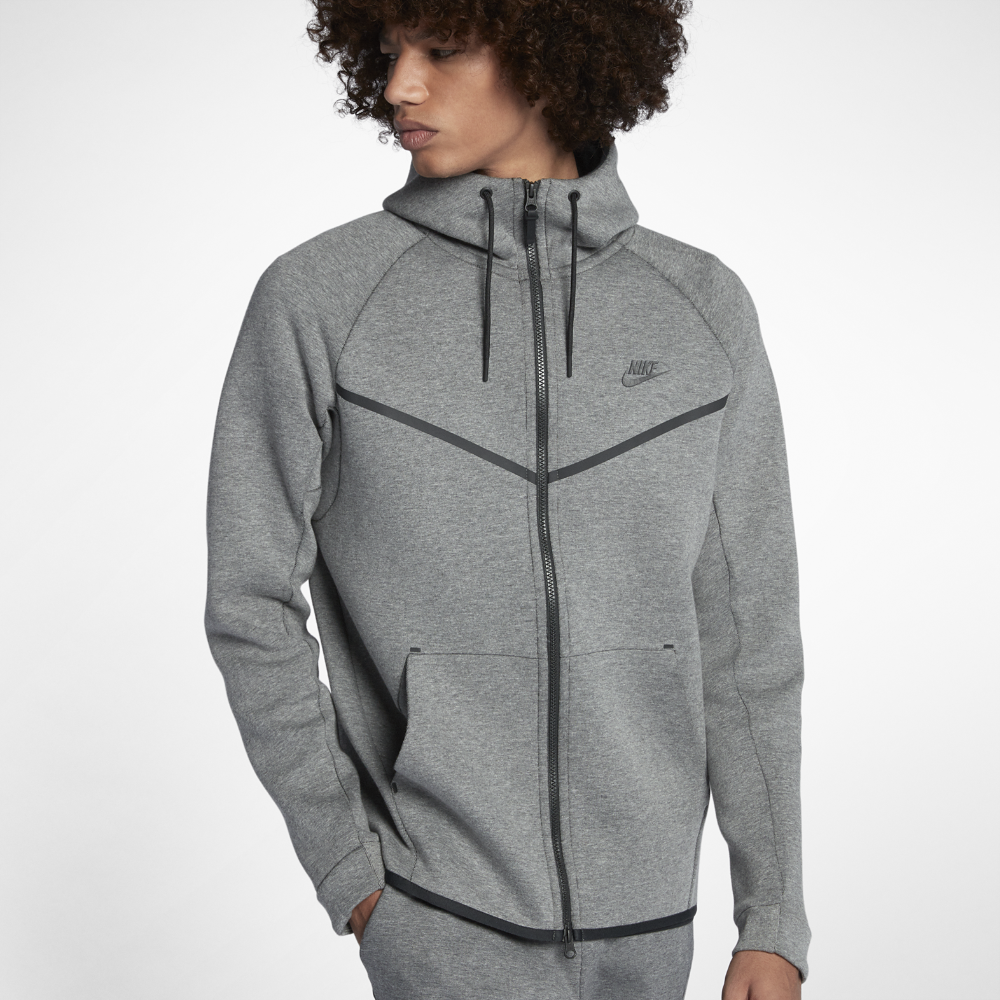 8e2dfd33a5c7 Nike Sportswear Tech Fleece Windrunner Men s Full-Zip Hoodie Size Medium  (Grey) - Clearance Sale