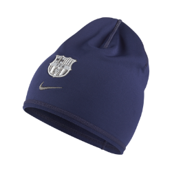 Трикотажная шапка для тренинга FC Barcelona CrestedТрикотажная шапка для тренинга FC Barcelona Crested обеспечивает комфорт и защиту от холода во время тренировок в холодную погоду благодаря эластичной ткани Dri-FIT и внутренней стороне с начесом.<br>