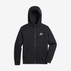 Худи для мальчиков школьного возраста Nike Club Full-ZipХуди для мальчиков школьного возраста Nike Club Full-Zip из мягкой флисовой ткани с «водолазным» капюшоном обеспечивает комфорт в прохладную погоду.<br>