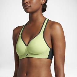 Спортивное бра с высокой поддержкой Nike RivalСпортивное бра с высокой поддержкой Nike Rival из трикотажного материала обеспечивает компрессионную посадку для фиксации груди во время тренировок с высокой нагрузкой, например бега, игры в баскетбол илитанцев.<br>