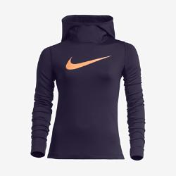 Худи для девочек школьного возраста Nike Pro HyperWarmДЛЯ ВЫСОКИХ РЕЗУЛЬТАТОВ  Худи для тренинга для девочек школьного возраста Nike Pro HyperWarm идеально подходит для тренировок в холодную погоду: инновационная ткань Nike HyperWarm сохраняет тепло, помогая избежать перегрева.  Защита от холода и влаги  Ткань Nike Pro HyperWarm с технологией Dri-FIT защищает от холода, выводя влагу на поверхность ткани и позволяя коже дышать.  Воздухопроницаемость и свобода движений  Вставки из сетки в области подмышек обеспечивают зональную вентиляцию и полную свободу движений во время тренировок, соревнований и игр.  Идеальная посадка  Эластичная вставка из рубчатого материала на спине обеспечивает эргономичную посадку для свободы движений во время любой тренировки.<br>