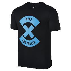 Мужская футболка NikeFootballX GlowМужская футболка NikeFootballX Glow из мягкой трехкомпонентной ткани дополнена яркой графикой.<br>